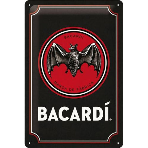 Bacardi 20x30cm Tin Sign