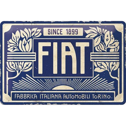 Fiat Since 1899 20x30cm Tin Sign