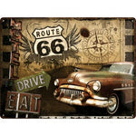 Route 66 30x40cm Tin Sign
