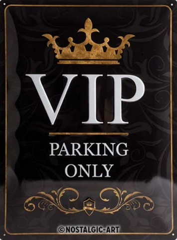 VIP Parking Only 20x30cm sign