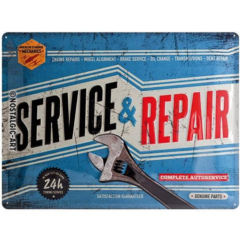 Service And Repair 30x40cm Tin Sign
