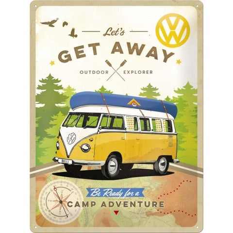 VW Volkswagen Get Away 30x40cm Tin Sign