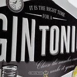 Gin & Tonic 30x40cm sign
