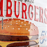 Hamburger 30x40cm sign