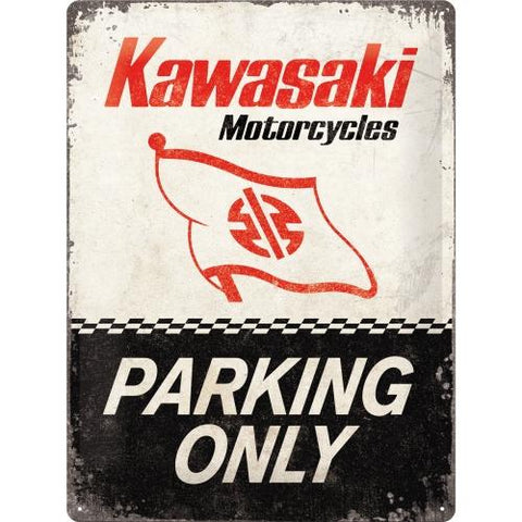 Kawasaki Parking Only 30x40cm Tin Sign