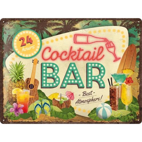 Cocktail Bar 30x40cm sign