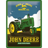 John Deere Made With Pride 30x40cm Tin Sign