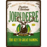 John Deere The Key to Great Farming 30x40cm Tin Sign