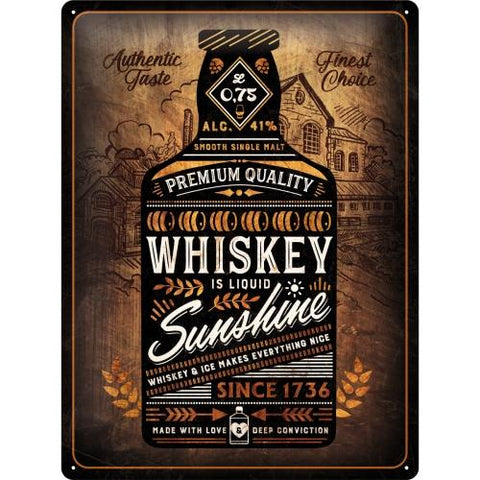 Whiskey Sunshine 30x40cm sign