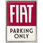 Fiat Parking Only 30x40cm sign