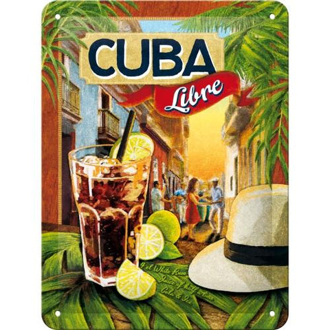 Cocktail Cuba Libre 15x20cm sign