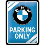 BMW Parking only 15x20cm sign