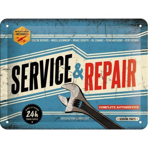 Service and Repair 15x20cm sign