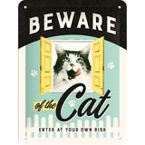 Beware of the Cat 15x20cm sign