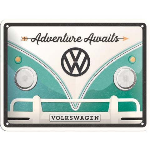 VW Volkswagen Adventure awaits 15x20cm sign