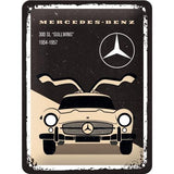 Mercedes Gullwing 15x20cm sign
