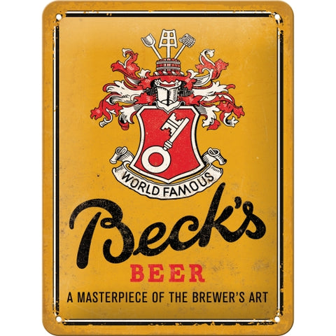 Becks Yellow 15x20cm sign