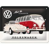 VW Volkswagen Meet The Classics 15x20cm sign