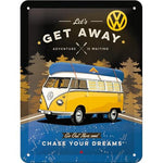 VW Volkswagen Get Away 15x20cm sign
