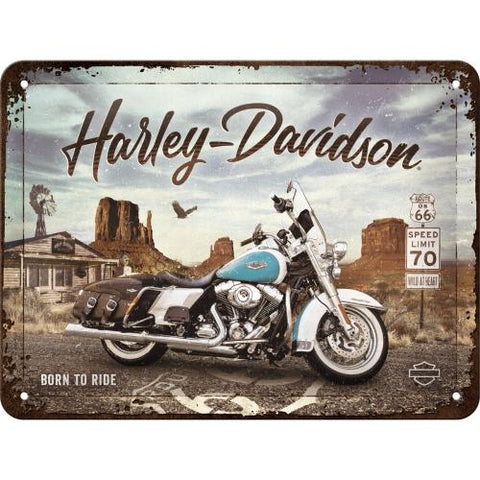 Harley Davidson Route 66 15x20cm sign
