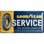 Goodyear - Service extra large tin sign
