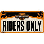 Harley Davidson Riders Only Hanging Sign