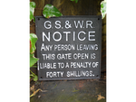 GS & WR Notice cast iron sign