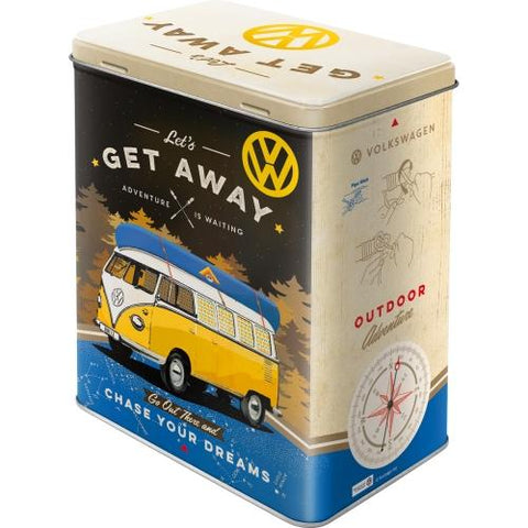VW Volkswagen Get Away Large Tin