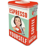 Espresso Yourself Clip Top Tin