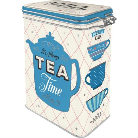 Tea Clip Top Tin