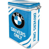 BMW Drivers Only Clip Top Tin