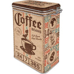 Coffee Imports Clip Top Tin