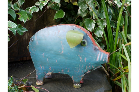 Metal Colourful Pig