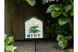 Mint Cast Iron Garden Herb Sign