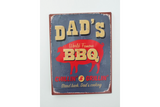 Dads BBQ tin sign
