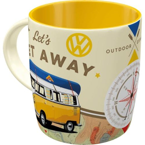 Let's Get Away VW Volkswagen Bulli Mug