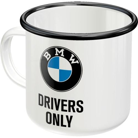 BMW Drivers Only Enamel Mug