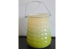 Green Glass Candle Holder