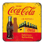 Coca Cola Yellow Metal Coaster