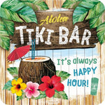 Tiki Bar Metal Coaster