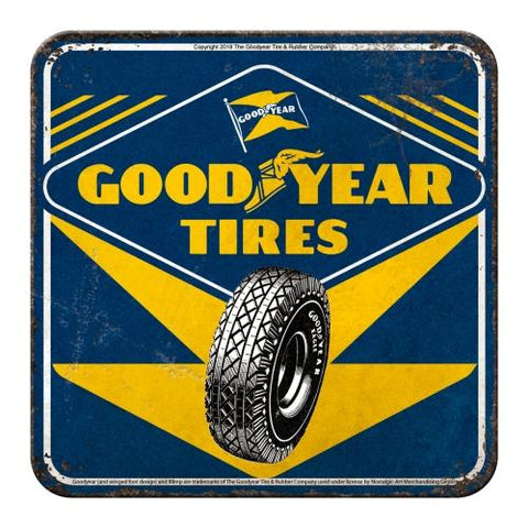 Goodyear Metal Coaster