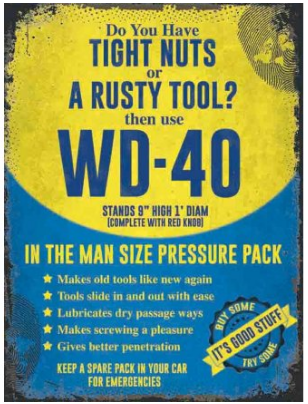 WD-40 Metal Sign