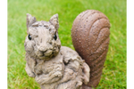 Wood Effect Squirrel with metal tail