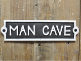 Man Cave cast iron sign