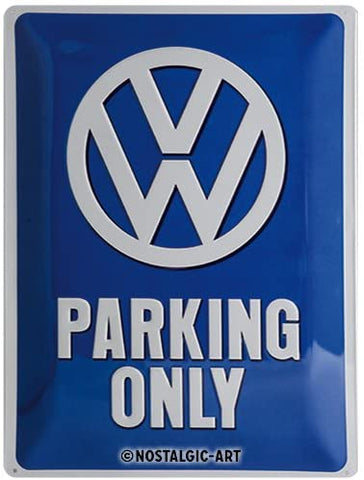 Nostalgic Art Retro Tin Sign – Volkswagen – VW Parking Only  30 x 40 cm