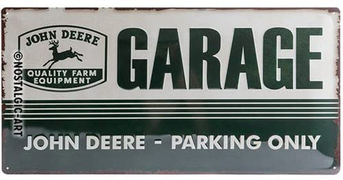 John Deere Garage Sign 25x50cm