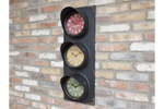 Black Traffic Light Clock