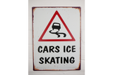 Cars Ice Skating tin sign