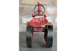 Red Tractor Clock