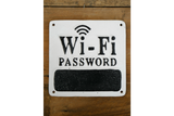 Wifi Password cast iron sign